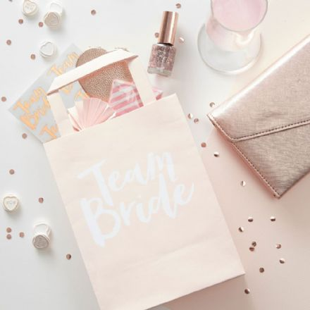 Pink Team Bride Party Bags -  pack of 5